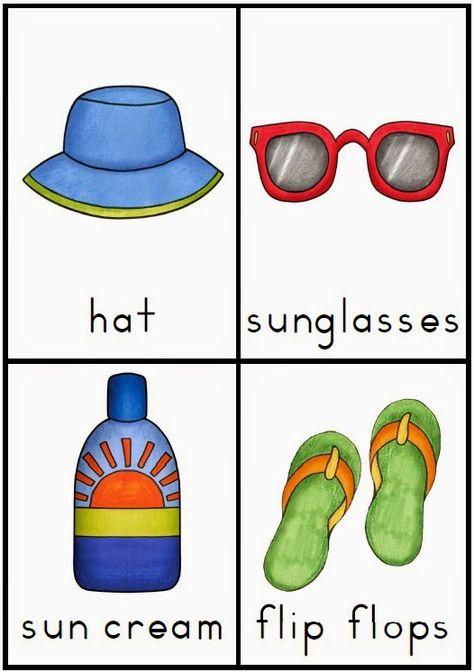 Making and Writing Summer Sentences for Kindergarten {vocab & sentence work}…