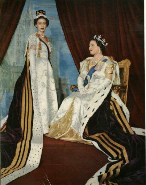 La Reina Isabel Reina Madre Portando La Tiara Aro Real De La Reina Victoria I Del Reino Unido En La Coronacion De S Reina Isabel Reina Isabel Ii Isabel Ii