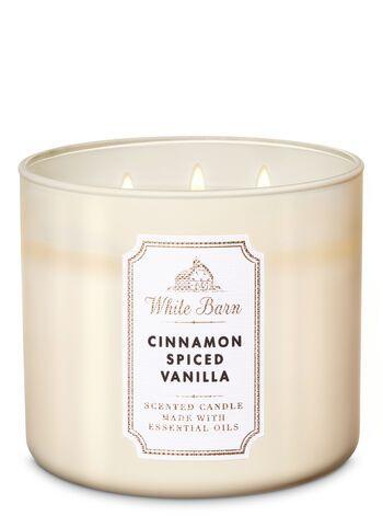 White Barn Cinnamon Spiced Vanilla 3 Wick Candle Candles 3 Wick