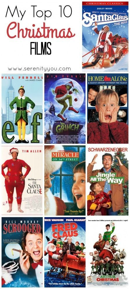 My Top 10 Christmas Films Winter Holiday Crafts Film Family Christmas