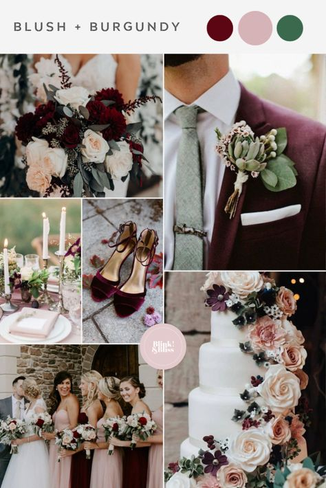 Top 10 Summer Wedding Color Palettes Blush and Burgundy Wedding Colors