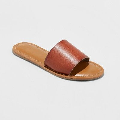 Women's Kerrigan Slide Sandal Universal Thread Cognac 8