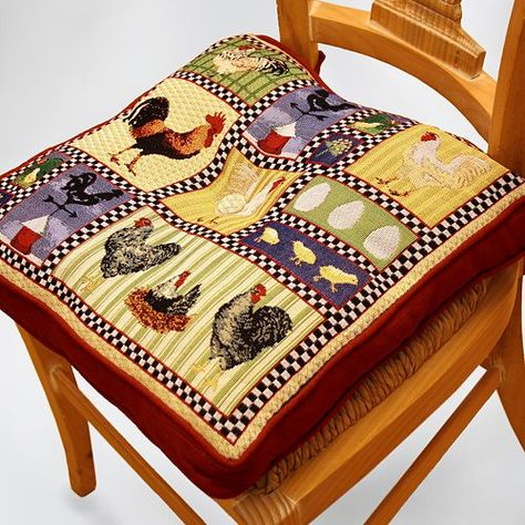 Park B Smith Rooster And En Tapestry Chair Pad 39 99