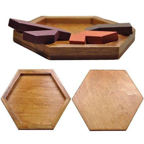 Thurston's Wooden Tangram Puzzle
