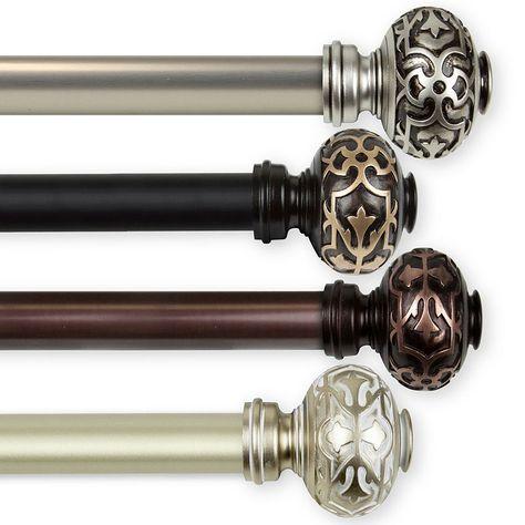 Rod Desyne Maple 1 In Curtain Rod Curtain Rods Double Rod