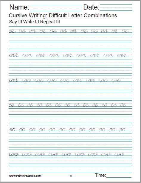 19++ Cursive writing worksheets pdf free download Images