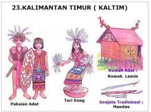 34 Provinsi Rumah Adat Pakaian Tarian Tradisional Senjata Tradisional Lagu Bahasa Suku Julukan Di Indonesia Pakaian Tari Senjata Kalimantan