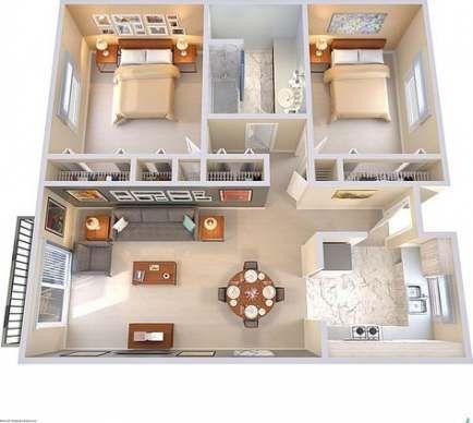 Bedroom Loft Design Dream Rooms 22 Ideas For 2019 Sims House Plans Small House Plans Small House Design Plans