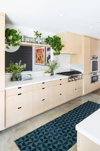 Graphic Mid Century Modern Newport Beach Home Tour Kitchen Ideas