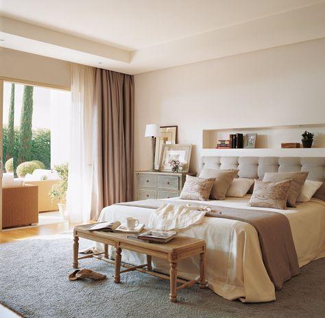 Más espacio para guardar en el dormitorio · ElMueble.com · Dormitorios (cabecero y manta mismo color)