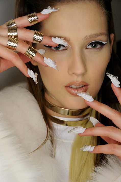Epic nail art designs from The Blonds Nail Art Fall 2015.