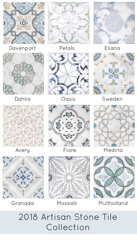 Introducing some of the newest patterns and colorways that have been added to ou. Introducing some of the newest patterns and colorways that have been added to our quick-ship progra Kitchen Redo, Kitchen Tiles, Kitchen Floor Tile Patterns, Cement Tiles Bathroom, Laundry Room Tile, Floor Patterns, Kitchen Countertops, Stone Tiles, Limestone Tile