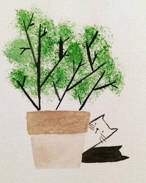 ink #hiding #cat #cats #ink...