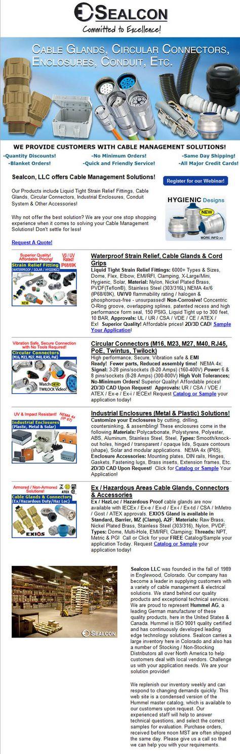 Sealcon\u0027s Featured Products #sealcon #cableglands #enclosures - sample credit application