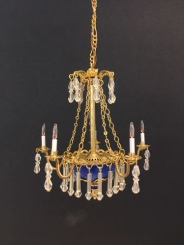 Dollhouse Miniature Handcrafted Crystal Chandelier Russian Style 1 12 12v Dollhouse Chandelier Dollhouse Miniatures Chandelier