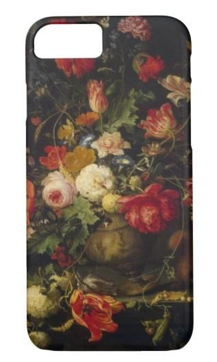 This iPhone 8/7 Case features a vintage floral painting by Abraham Mignon. #ad #iphone7case #iphone8case