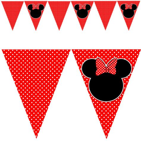 Printable Minnie Mouse Inspired Birthday Party Flag by pinkthecat - ClipArt Best - ClipArt Best