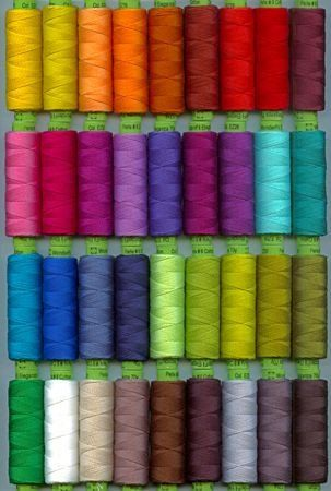Great for thread embellishment, big stitch hand quilting and Sashiko! The impeccable quality of Eleganza Perle Cotton results in smooth, lustrous surface allowing the thread to glide smoothly through