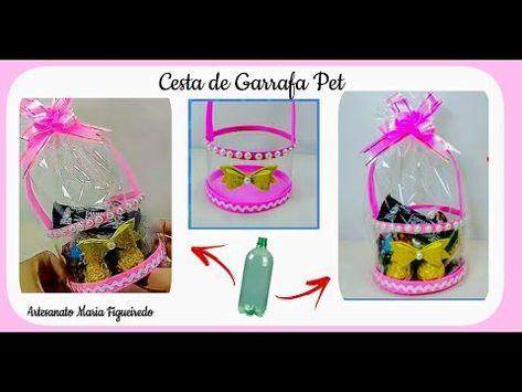 Ideia Com Garrafa Pet Para O Dia Das Maes Cesta De Garrafa Pet