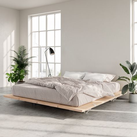 The Floyd Platform Bed in birch offers a modern look that fits with any home. Requires no tools for assembly and ships straight to your door. Room Ideas Bedroom, Home Decor Bedroom, Modern Platform Bed, Platform Beds, Black Platform Bed, Home Modern, Aesthetic Room Decor, Minimalist Bedroom, Dream Rooms
