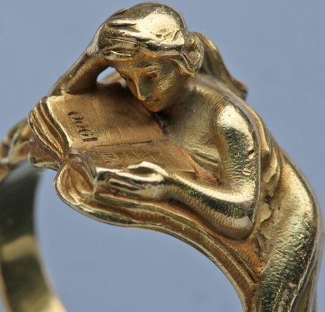 "lillithblackwell: "" Louis Zorra Art Nouveau Ring c. 1900 France """
