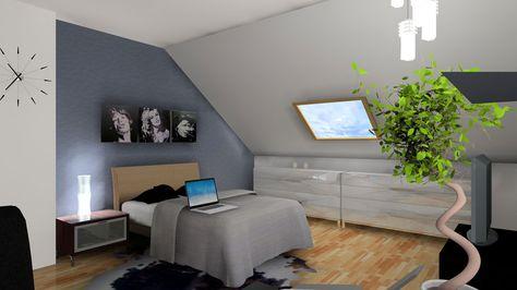 3D chambre sous comble | | Décoration intérieure | Pinterest