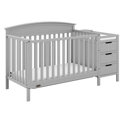 Dream On Me Brody 5 In 1 Convertible Crib And Changer In Espresso Legs Rails Adjustable Cribs Convertible Crib Best Baby Cribs