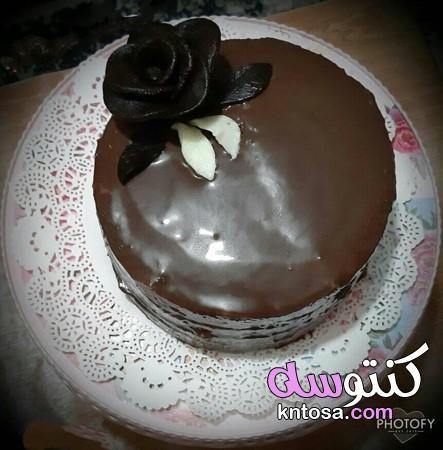 طرق تزيين التورتة بالشوكولاتة تورته الشيكولاتة الفاخرة مزينه بورد من عجينه الشيكولاته Food Desserts Pudding