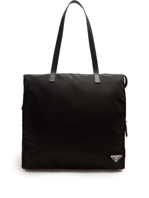 a4463e3602e0ed PRADA Leather-Trimmed Nylon Tote. #prada #bags #leather #hand bags #nylon # tote #lining #