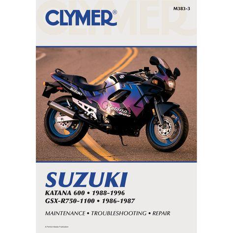 clymer suzuki gsx r750 1988 1992 gsx750f katana 1989 1996 rh pinterest co uk suzuki katana gsx600f service manual suzuki katana 750 service manual