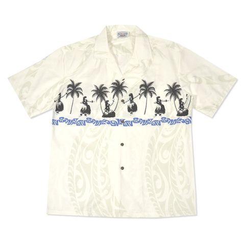 c778cac1 hula girls white hawaiian border shirt   Products   Hawaiian, Aloha ...