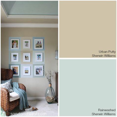 Coastal Colors - Urban Putty + Rainwashed - Sherwin Williams