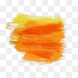 Free Download Paintbrush Watercolor Painting Pincelada Orange