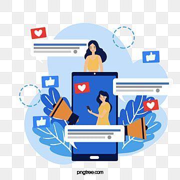 Gambar Ilustrasi Media Biru Telefon Bimbit Telefon Bimbit Media Biru Tanduk Png Dan Psd Untuk Muat Turun Percuma Kartun Kuning Biru