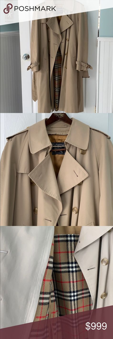 AUTHENTIC Burberry Men's Trench Coat with Liner Size Reg 40