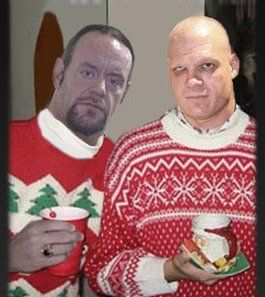 Broiled Sports: Kane and the Undertaker in Ugly Christmas Sweaters ...