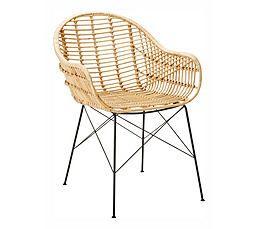 chaise en rotin aliza miel chaises