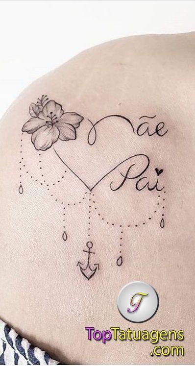 Tatuagem Feminina Delicada Escrita Pai E Maedelicada Braco