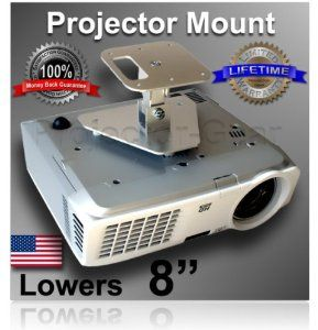 """Projector-Gear Projector Ceiling Mount for BENQ MW821ST with 8"""" Extension by Projector-Gear. $59.95. This mount can be used to lower your projector 4"""" below the ceiling or with the extension, 8"""" below the ceiling.  WHILE I SHOULD BE FLATTERED THAT ANOTHER SELLER IS USING PICTURES OR OUR MOUNTS TO SELL THEIRS, IT IS REALLY NOT FAIR TO THE CONSUMER OR US. If it looks like our projector mounts but doesn't say """"Projector-Gear"""" in the title, it is not a REAL Projecto..."""