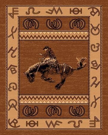 Bucking Bronc Western Area Area Rug 5 Sizes Available Area Rugs Rugs Colorful Rugs