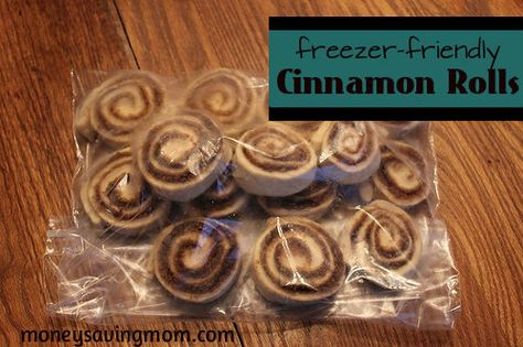 Freezer Friendly Cinnamon Rolls- Step by Step...hot dog! May try MiMi's recipe and see if we can have fresh baked cinnamon rolls some morning w/o me having to get up at the crack of dawn!