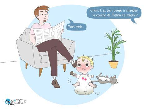 Humour Vie De Parent Changer La Couche De Notre Loulou Humour Bd Drole Blague Rigolote