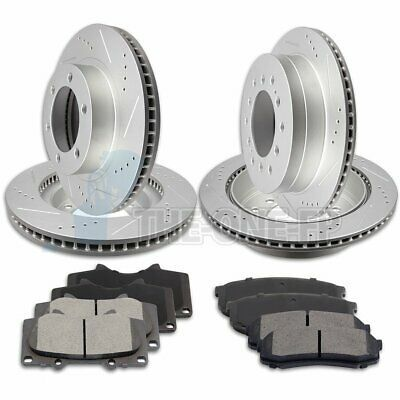 Front+Rear Drilled Slotted Rotor /& Ceramic Pad kit For Toyota FJ Cruiser