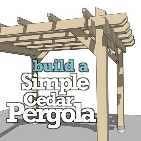 This pergola is easy to build with detailed plans. Build a pergola in your garden, patio, or back yard. Pergolas add shade and a great DIY project. #pergola #pergoladesign #pergolacanopy #pavilion #diypergola #gazebo #gardenideas #gardenstructures #garden #gardenideas #gardening #gardenprojects