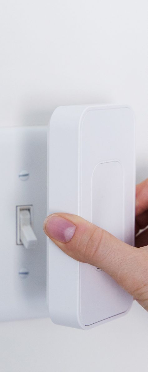 Switchmate - App-Controlled Light Switch Adapter - Command your house lights and fans—from your phone. It's as easy as putting Switchmate over the plate and downloading an app.
