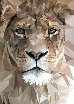Animal. Desenho. Geométrico. Leão.                              …