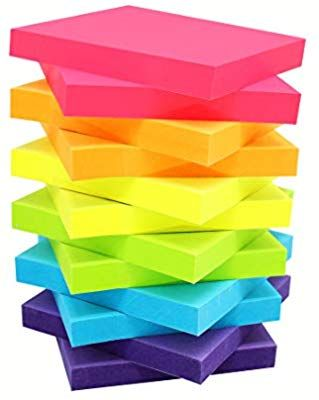 Amazon Com Sticky Notes 3x3 Inches Bright Colors Self Stick