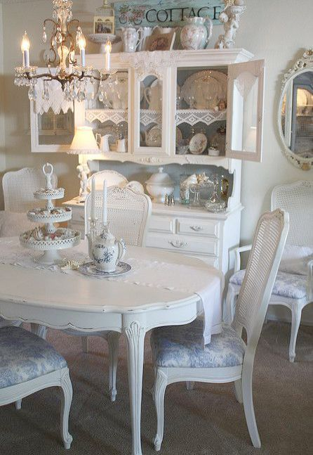 Pin On Shabby Chic Shabby chic dining rooms chairs
