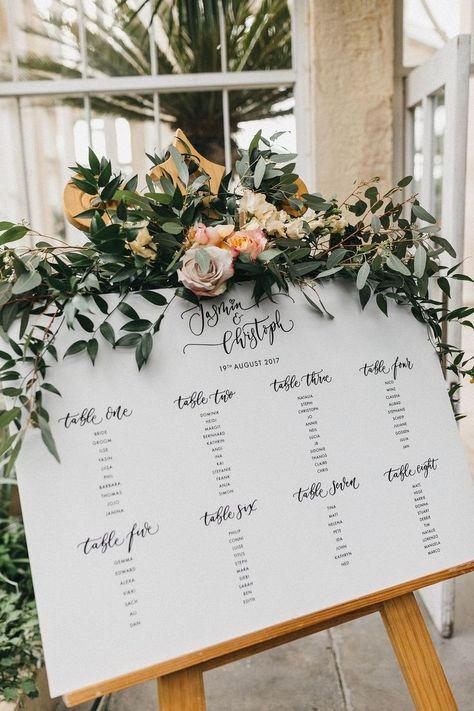Hochzeitsempfang Dekor | Tischplan von Quill London | Blumen und Laub | Stu ... - #Blumen #Dekor #Hochzeitsempfang #Laub #london #Quill #Stu #Tischplan #und #von
