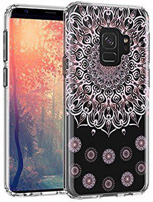 Amazon Com Lontect Galaxy S9 Case Girl Floral Clear Tpu Soft Slim